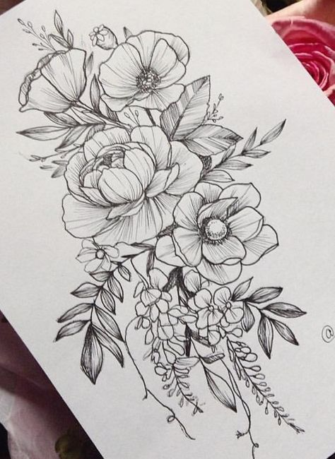 New Flowers Sketch Pattern Tattoo Ideas 54 Ideas Flower Tattoo Shoulder Tattoos Flower Tattoo Drawings