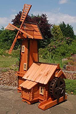 Windmuhle Mit Integrierter Wassermuhle Kugelgelagert Amazon De Garten Wooden Windmill Plans Garden In The Woods Bird House