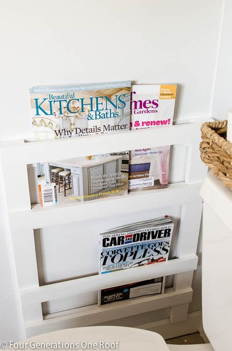 How To Build A Wall Mounted Diy Magazine Rack In Bathroom Using Pine And Birch Wood Easy Afternoon Project That Will Keep Your Magazines Organized