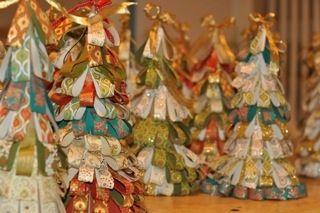 paperstrip trees Christmas Craft Tea
