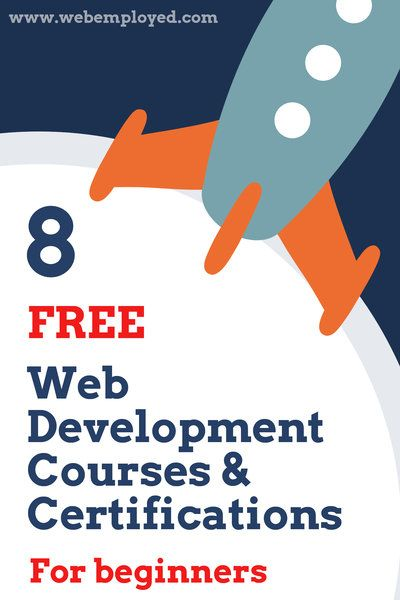 8 Free Web Development Courses And Certifications For Beginners Learn Web Development Learning Web Web Development Course