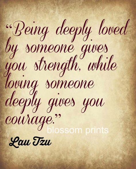 Being Loved by Someone    Lau Tzu by Blossomsvintageprint on Etsy