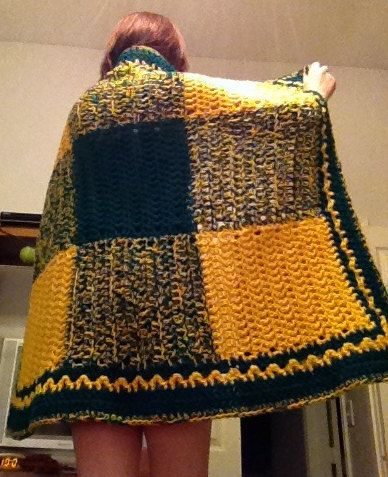 Green Bay Packers Crochet Blanket By Braidedwood On Etsy 10000