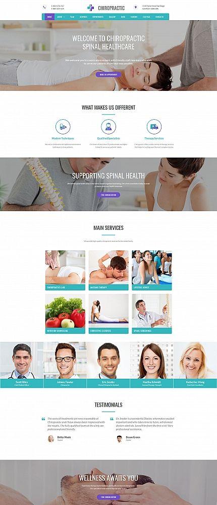 CHIROPRACTIC - #alternative #medicine #responsive Moto CMS 3 ...
