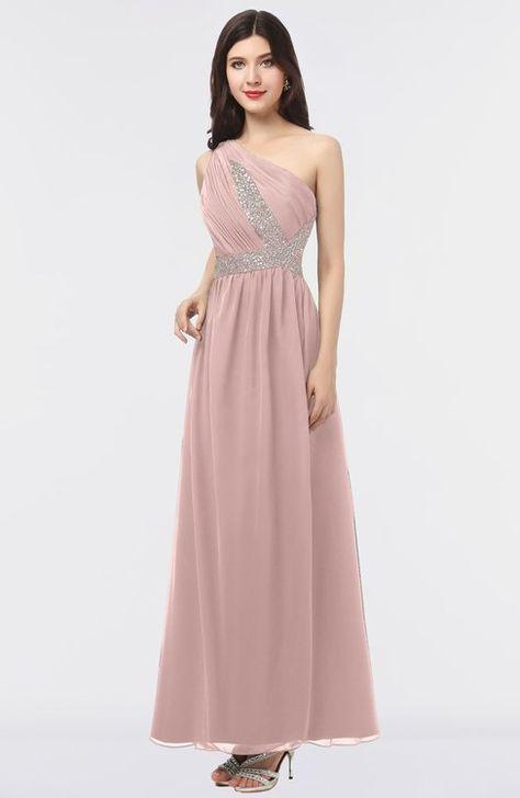 446a48c41558e ColsBM Gemma Blush Pink Mature A-line Sleeveless Asymmetric Appliques Bridesmaid  Dresses