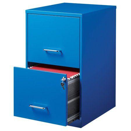 Hirsh Soho 2 Drawer File Cabinet In Blue Walmart Com Filing Cabinet Filing Cabinet Storage Drawer Filing Cabinet