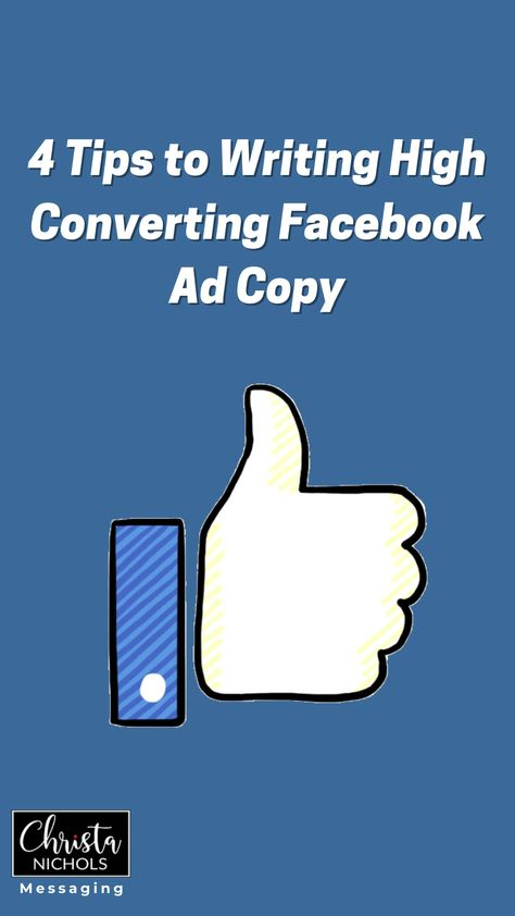 4 Quick Ad Copy Tips for High Converting Facebook Ads | Copywriting for Facebook