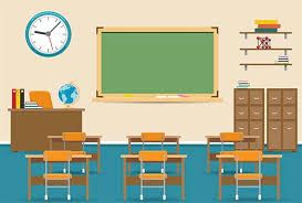 Image Result For Images Of Cartoon Teacher S Desk School Illustration Classroom Interior Primary School