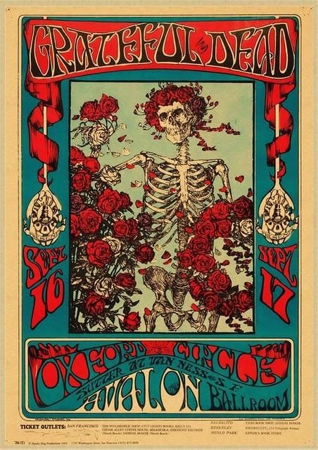 The Grateful Dead Vintage Retro Style Posters Wall Decorations- ALL SIZES - 11 / 30x21cm