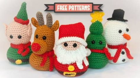 These little guys can hang out on a mantle or sit them elegantly on the Christmas Dinner table. The patterns are available free by popping over to Dendennis.nl If you make them make sure you po…