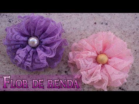FLOR DE RENDA | DIY - PASSO A PASSO - YouTube