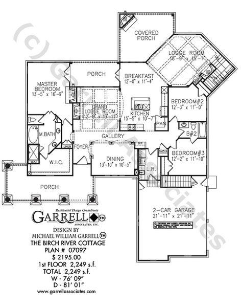 Birch River Cottage House Plan 07097 Garrell Associates Inc House Plans Cottage House Plans Accessible House Plans