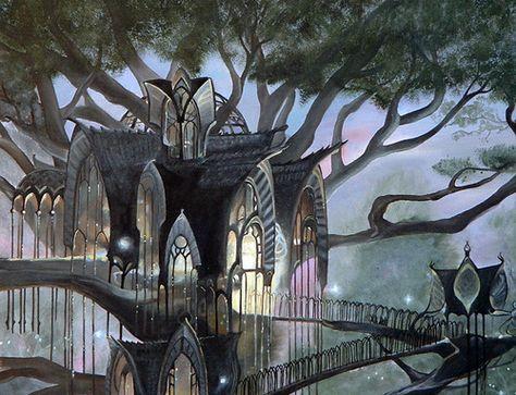 Elven architecture The design seems to flow from a point Fantasy art landscapes Fantasy landscape Fantasy castle