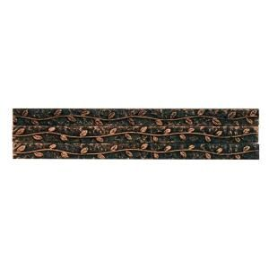 Merola Tile Baroque Copper Vine Stick 3 8 In X 6 In Resin Wall Trim Tile 3 Pack Witbcvst At The Home Depot Wall Trim Merola Tile Wall Installation