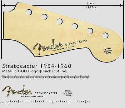 Fender Stratocaster 1954 1960 Metallic Gold Logo Headstock Waterslide Decal Fenderstratocaster Fender Stratocaster 1954 1960 Metallic Gold Logo Headstock W