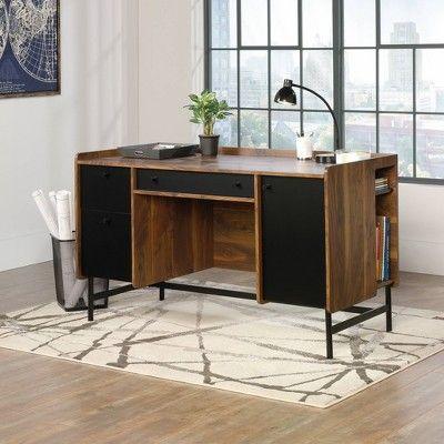 2 Drawer Harvey Park Desk Grand Walnut Sauder Wooden Computer Desks Furniture Desk