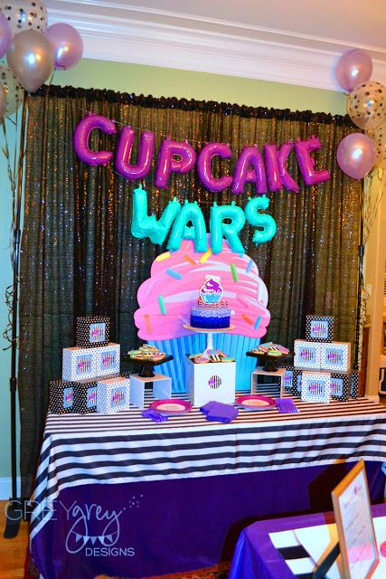 My Parties Cupcake Wars Party Cupcake Wars Party 12th Birthday Party Ideas Baking Birthday Parties