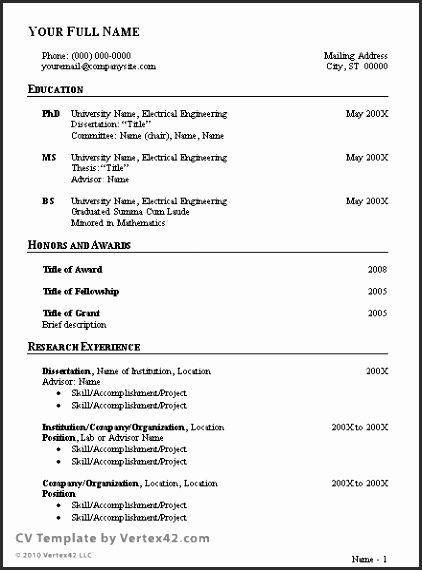 Pin By Dede Bontang On Best Templates Curriculum Vitae Template Job Resume Template Sample Resume Templates