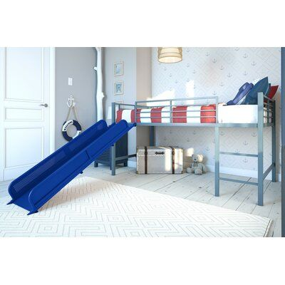 Viv Rae Whitbeck Twin Bed Bed Frame Color Silver Loft Bed Frame Low Loft Beds Twin Size Loft Bed