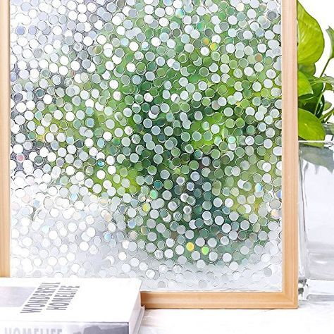 45*200cm Static Cling Cover Thicken Window Glass Film Sticker Privacy Home Decor