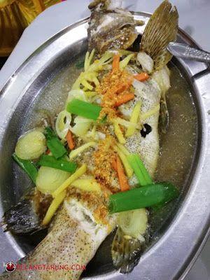 Resepi Ikan Siakap Stim Limau Ala Thai Recipe In 2021 Fish Recipes Seafood Recipes Malay Food
