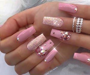 Imagem De Nails Rhinestone Nails Luxury Nails Pink Nails