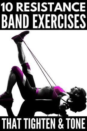 Full Body Workout With Resistance Bands 10 Exercises To Tighten Tone Workout For Beginners Band Workout Fitness Body