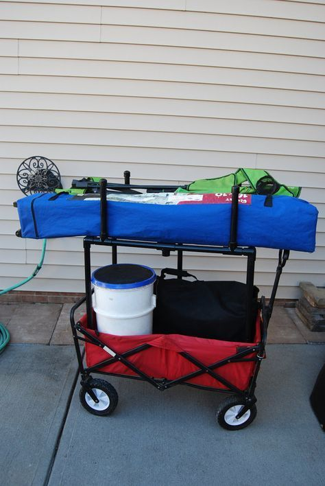 The Wagon Rack Is An Innovative Idea That Increases The Usability Of Your Portable Wagon Great For Those Famil Travel Softball Travel Baseball Softball Drills