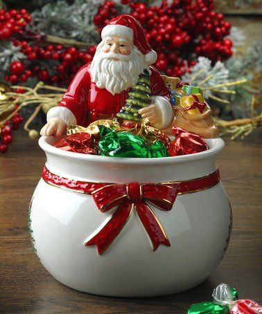 Look What I Found On Zulily Christmas Tree Figural Santa Candy Bowl Zulilyfinds Spode Christmas Christmas Bowl Spode Christmas Tree