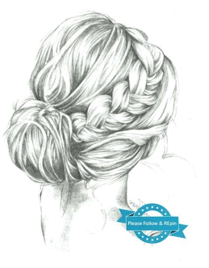 33 Ideas Hair Drawing Reference Bun How To Draw Hair Drawing Reference Drawings