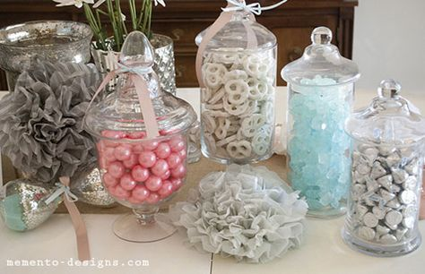 vintage baby shower candy