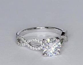 Infinity Twist Engagement Ring...Gorgeous!!