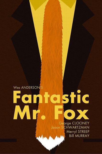 Fantastic Mr Fox 2009 Carteles De Cine Posters Minimalistas El Fantastico Senor Zorro