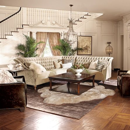 Nice Fiona Sectional | Arhaus Furniture. Two Rugs..... Maybe Not Necessary To Be  Under The Bed But Just In Front? | MA BD And MA BA | Pinterest | Living  Rooms, ...
