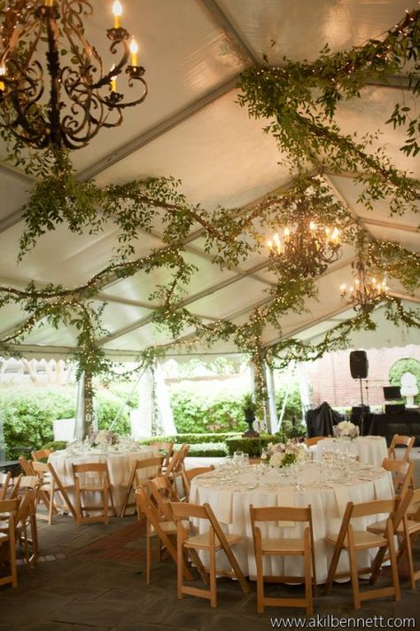 I just love the greenery draped. I looks so whimsical! River Oaks Garden Club- Houston, Tx