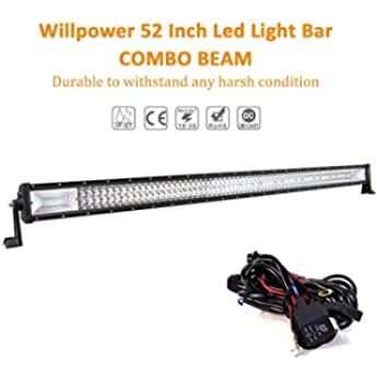 Dot 50 Inch Curved Led Light Bar Spot Flood Combo Beam 2pcs Pods Cube Fog Lights W Wiring Harness Rocker Swi Curved Led Light Bar Polaris Ranger Led Lights