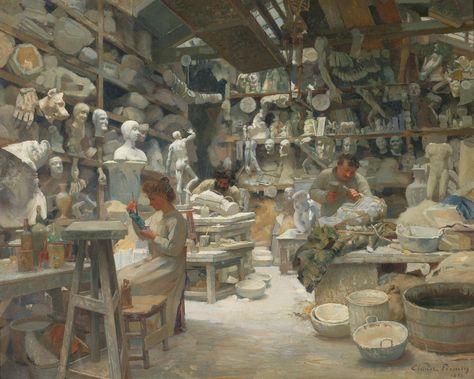 Claude Firmin - The Workshop of Plasikers Sadaune (1901)