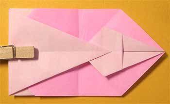 折り紙でうさぎポチ袋の折り方 正月小銭入れに簡単かわいい作り方 セツの折り紙処 ぽち袋 手作り うさぎ 折り紙