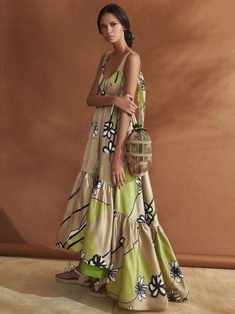b1d2a4c298db Bohemia Round Neck Backless Floor-Length Asymmetrical Summer Dresses