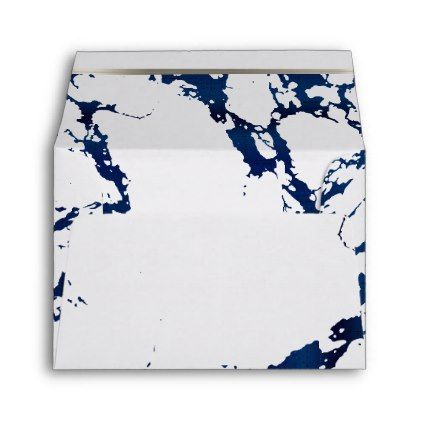 Navy Blue Marble Silver And White Design Envelope Zazzle Com Blue Marble Wedding Prints Elegant Wedding