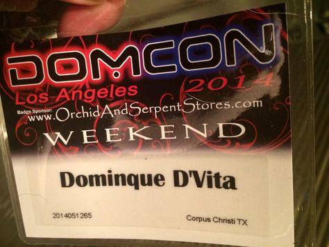 Today I will be at DomCon LA aka the Dominatrix Convention. Find me at the DDI Magazine booth.