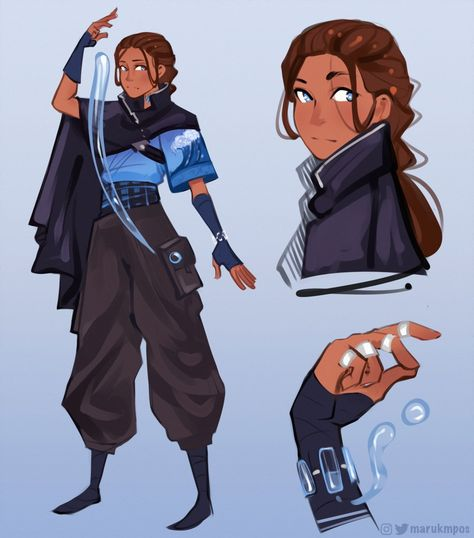 Cyberpunk AU Katara Fan Art Avatar, Team Avatar, The Last Avatar, Avatar The Last Airbender Art, Avatar Funny, Avatar Series, Korra Avatar, Legend Of Korra, Character Design Inspiration