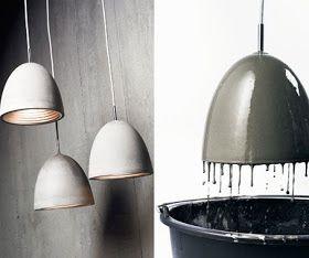 beton lamper diy