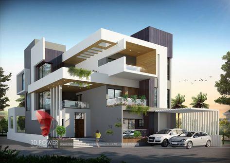 Architect 3d Building Bungalow Design Duplex House Design Bungalow House Design