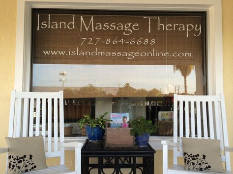 Come in a few minutes early for your massage and relax in a rocking chair…. ahhh!