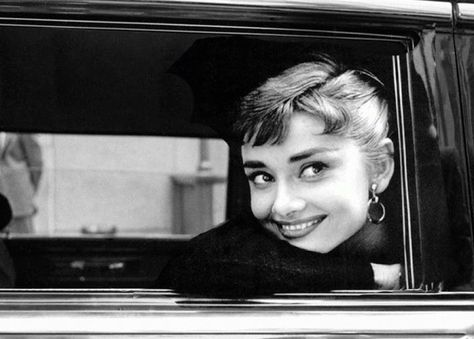 Audrey Hepburn photographed by Dennis Stock during the production of Sabrina, New York, 1953.