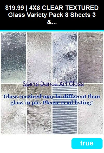 Stained Glass Supplies 4770 4x8 Clear Textured Glass Variety Pack 8 Sheets 3 And 4mm Stained Glass Supplie Glass Supplies Glass Texture Stained Glass Supplies