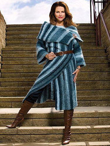 Wrap-Sody in Blue Blanket Coat pattern by Laura Gebhardt