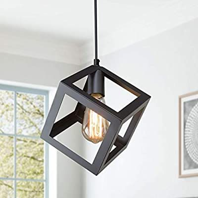 Lnc Pendant Lighting For Kitchen Island Geometric Modern Hanging Ceiling Fixture With Adj In 2020 Square Pendant Lighting Ceiling Light Covers Hanging Ceiling Fixtures