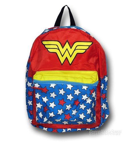 Images of Wonder Woman Backpack with Removable Cape!